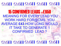 canvassers 15 leads per week =£650 weekly
