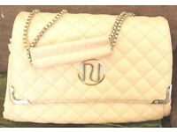 PALE PINK QUILTED HANDBAG BY RIVER ISLAND.