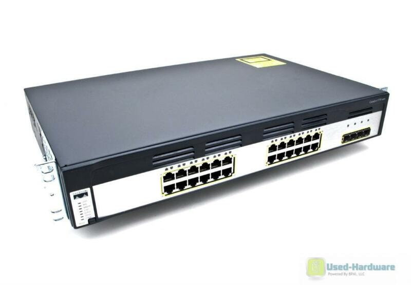Cisco Ws-c3750g-24ts-s 24-port 10/100/1000 4 Sfp Gigabit Stackable Switch 1.5u