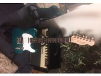 Fender Squire Telecaster, as new. CTS Pots upgrade. strap and gigbag included