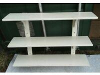 Wooden Shelving Unit - Wall Mounted. Delivery Available.