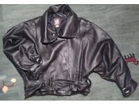 WOMENS VINTAGE '80s LEATHER JACKET