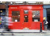 Starter chef needed at Rosa's Thai Cafe- Spitalfields
