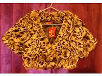 NEW Fluffy leopard print jacket - size 10
