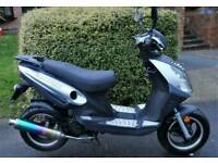 2015 DERISTRICTED 50MPH Learner Legal 50cc SPORTS SCOOTER 49cc Moped ELECTRIC START Twist & Go VGC