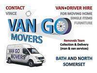 Home Removals in Bath and North Somerset, Furniture, Single Items Collection, Delivery Man and Van