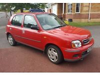 NISSAN MICRA 1.0 2001, 5DR, low mileage, 2 owners, MOT Oct 17