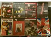 DVDS:STAR WARS TRILOGY. ALSO FIVE Feature Films; A Mozart Documentry & A 'Little Britain' DVD GAME.