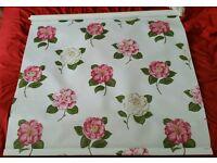 Custom made blind Pink & White flowers. New Dawlish Devon