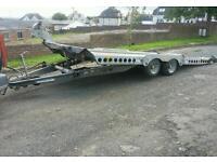 Ifor williams ct177 tilt bed car transporter trailer 17 x 7 3500kg led lights straps
