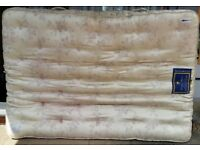 king size mattress, pocket springs, 200cm x 150cm x 22cm thick. In used but good condition.
