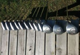 Wilson John Daly Full Set of Golf Clubs - Irons, Drivers and putter, with Hillbilly Golf Cart Bag