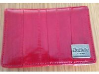 Small Red Leather Wallet from BoBelle of London NEW & Boxed