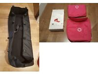 Black Carrycot and Pink Hood/Cover set for Bugaboo Donkey, Like New!!