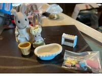 Sylvanian families vintage bathtime with mother