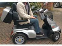 TGA Breeze S4 Mobility Scooter 2016 fully serviced. Rear box, walking stick holder and framed cover
