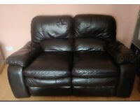 Leather Sofa set: 3 seats + 2 seats (recliners)