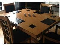 Dinning table and 4 chairs quick sale