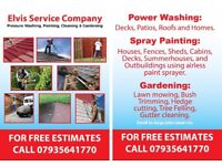 POWER WASHING, ROOFING/ GUTTERING/ SPRAY PAINTING, GARDENING and not only! Professional Services