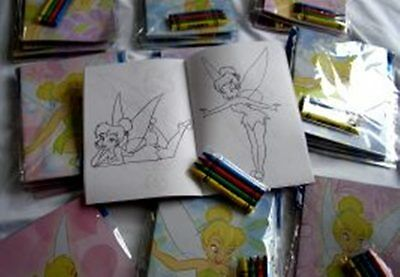 (Lot 12 Disney Tinkerbell Coloring Book Crayon Party Set Girl Birthday Favor Gift)