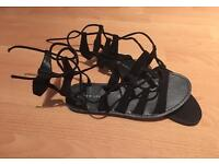 New look, black gladiator sandals