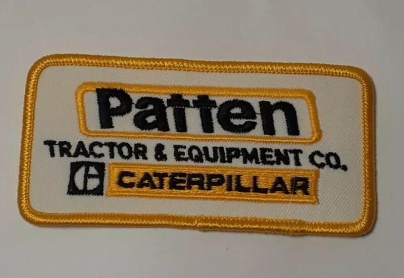 Vintage Patten Tractor Cat Caterpillar Equipment Patch