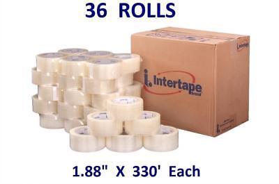 36 Rolls 1.88 X 330 Intertape 191 Clear Tape Premium Carton Sealing Shipping