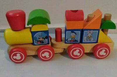 Mickey Mouse Wood Blocks Stacking Train Set Melissa & Doug (Mickey Mouse Wood Blocks Stacking Train Set)