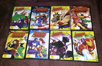 Avengers, Transformers, The Super Hero Squad and Lego DVDS