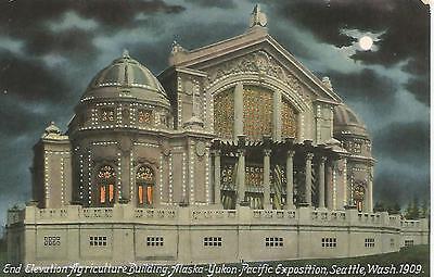 Seattle Wa Alaska Yukon Pacific Exposition Agriculture Building Postcard 1909
