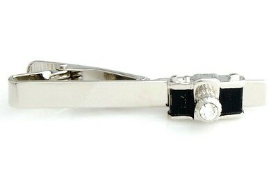 Camera Photographer Photography Film Tie Clip Silver Black Wedding Bar Clasp