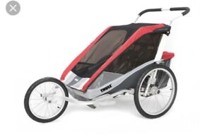 Thule Chariot Cougar 2 with bike and jogging accessories