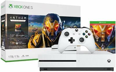 Xbox One S 1TB Anthem Console Bundle  NEW
