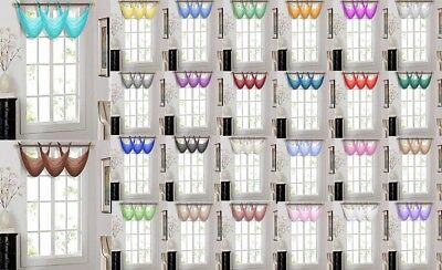 1PC ELEGANCE WATERFALL SHEER VALANCE WINDOW CURTAIN TREATMENT 36