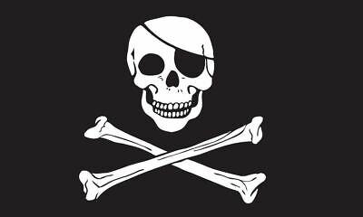 Large Jolly Roger Pirate Flag Skull Crossbones Caravan Camping Boat Kids 5x3FT
