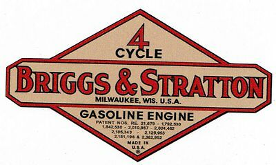 Briggs & Stratton Gas Engine Motor Decal Hit & Miss Engine 2 inch Bore WM WMB WI