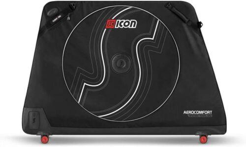 Scicon AeroComfort MTB TSA Bike Travel Bag, Soft Case, Black/Red