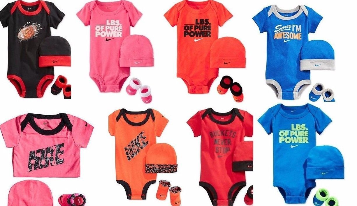 Beanie Hat /&  Booties 3-6 M. AIR NIKE Baby BOYS 4-pc outfit GIFT Set Bodysuit