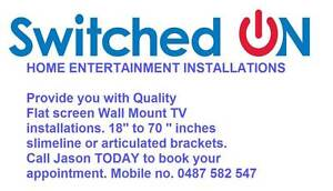 TV WALL MOUNT INSTALLATION / FLAT SCREEN TV MOUNTING Newcastle Newcastle Area Preview