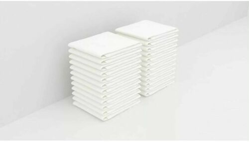 Bulk 6/12/18/24/36/ Pack of Washcloths - 12 x 12 White Towels Quick-Dry Cotton