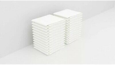 Bulk 60 Pack of Washcloths - 12 x 12 White Towels Quick-Dry Cotton