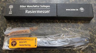 "Boker 140521 Straight Razor Black Handle, Steel Blade from Solingen Germany 5/8"""