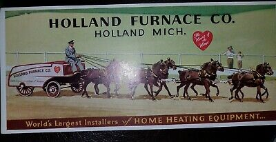 Vintage Holland Furnace Co. In Holland Michigan Ink Blotter