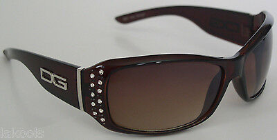 New DG Rhinestone Designer sunglasses Brown/Brown gradient Lens for (Dg Womens Sunglasses)