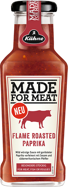 Kühne Made For Meat Flame Roasted Paprika - Würzige Grill Sauce - 235 ml