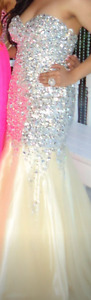 PROM/WEDDING/GRAD DRESS! TONY BOWLS GOLD/CHAMPAGNE MERMAID