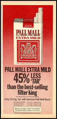 - 1975 vintage ad for Pall Mall Extra Mild Cigarettes-223