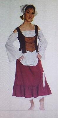 BÄUERIN Tavernen Mädchen KOSTÜM MARKTFRAU BURGFRÄULEIN LARP Gr.42-44 Mittelalter