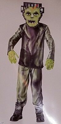 oween Costume Boy Small 4-6 Medium 8-10 Frankenstein Monster (Halloween Pixel)