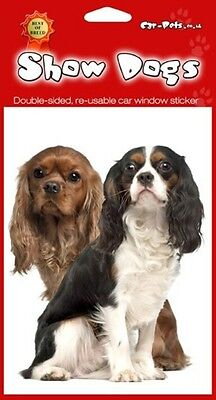 Cavalier King Charles Spaniel Breed of Dog Double Sided Window Sticker